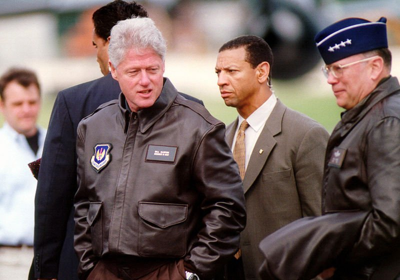 Clinton did not have sexual relations with that jacket. (Source: Wikipedia)