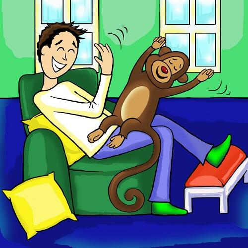Slapping the monkey